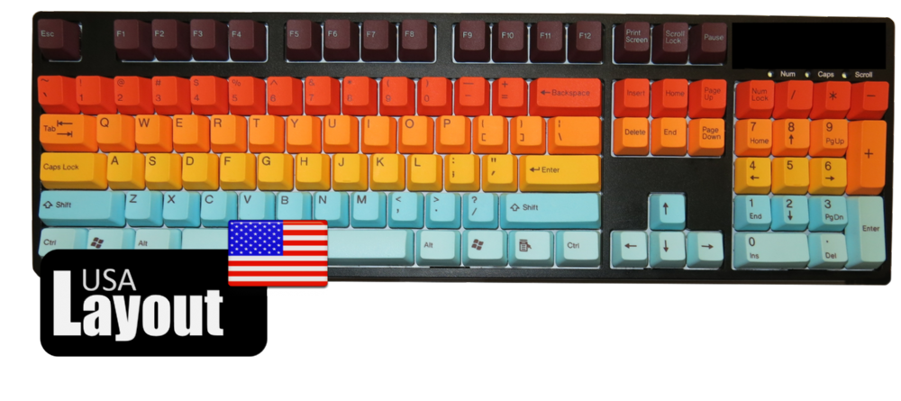Tai-Hao PBT Double Shot Keycaps Hawaii USA